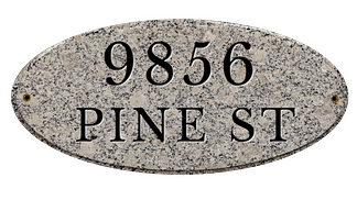 Personalized granite house plaque