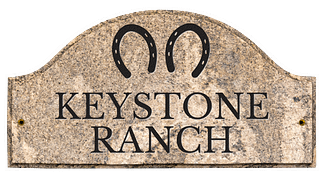 Custom ranch sign with custom artwork