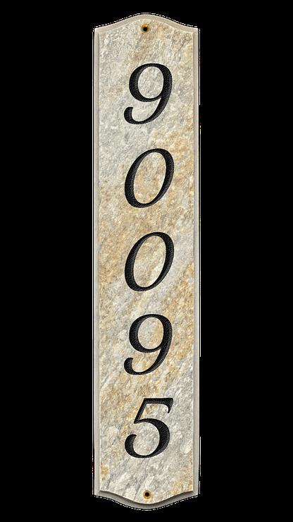 Custom engraved address plaque