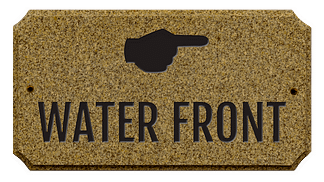 Custom way-finding granite plaque