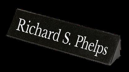 Custom granite desk plaque
