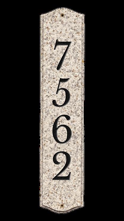 Engraved granite plaque
