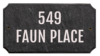 Engraved granite address plaque
