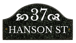Custom street address plaque